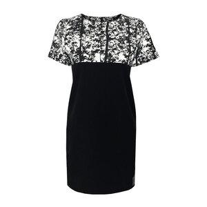 Rowen Dress schwarz weiß gemustert - eisbörg