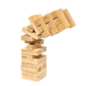 Wackelturm aus Bambus | Geschicklichkeitspiel & Gesellschaftsspiel - pandoo