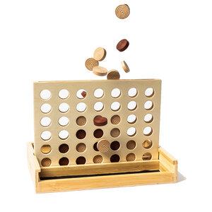 Vier Gewinnt aus Bambus | Gesellschaftsspiel für 2 | ab 6 Jahren - pandoo