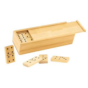 Domino Doppel 6 aus Bambus | Legespiel mit 28 Dominosteinen - pandoo
