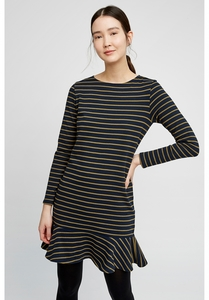 Anoushka Stripe Dress Navy - People Tree