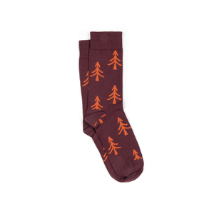 Tree Socken Dunkelrot - bleed