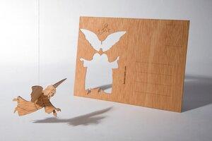 Zedernholzkarte Engel - Formes