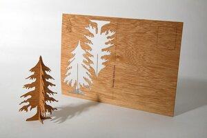 Zedernholzkarte Tannenbaum - Formes