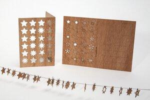 Zedernholzkarte 24 Sternchen - Formes