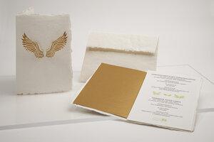 Briefkarte Engelsflügel - Formes