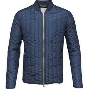 Quilted Worker Jacket - Total Eclipse - KnowledgeCotton Apparel