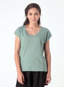 Gestreiftes T-Shirt aus Bio Baumwolle mit längerem Rückenteil - ORGANICATION