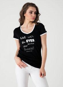 T-Shirt aus Bio Baumwolle mit Text-Print - ORGANICATION