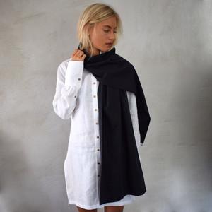Schal schwarz für Damen - Made in Germany - Feinste Baumwolle - Lou-i