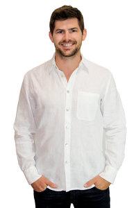 Bio-Leinenhemd für Herren - Peaces.bio - handbedruckte Biomode