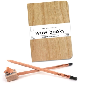 Schreibset mit Notizbuch  DIN A 5 + Bleistift zum Einpflanzen - Handbuchbinderei Daniel Kirst