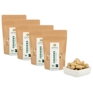 Bio-Fairtrade-Cashewkerne: Geröstet & Gesalzen (4 x 70g) - Cashew for You