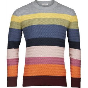 Multi color striped knit zig-zag GOTS - KnowledgeCotton Apparel