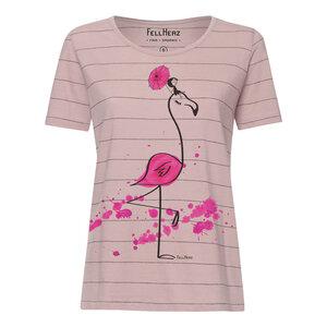 T-Shirt Damen pink/altrosa gestreift // TT64 Damen // Flamingo - FellHerz