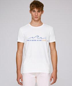 T-Shirt mit Motiv / Life is better at the Beach  - Kultgut