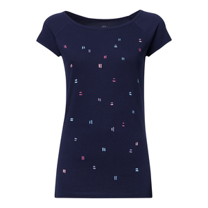 T-Shirt Damen dunkelblau Bio & Fair // TT01 Cap Sleeve Damen // Dips - THOKKTHOKK