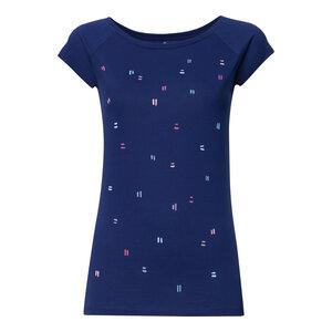 T-Shirt Damen blau Bio & Fair // TT01 Cap Sleeve Damen // Dips - ThokkThokk