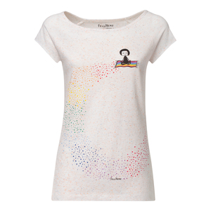 T-Shirt Damen weiß spotted Bio & Fair // TT01 Damen // Ommm  - FellHerz