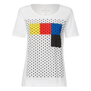 T-Shirt Weiß Bio & Fair // TT64 Damen // Rasterblock - THOKKTHOKK