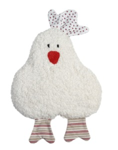 Kirschkern-Wärmekissen Huhn, rot, kontrolliert biologischer Anbau, 100 % Made in Germany - Efie