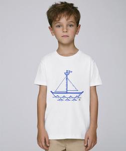 T-Shirt mit Motiv / blue ship - Kultgut
