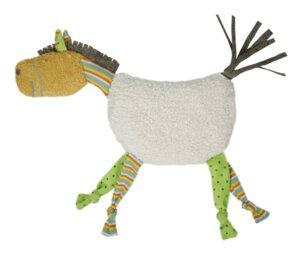 Kirschkern-Wärmekissen Pferd bunt mit Rassel im Kopf, kbA, - Efie