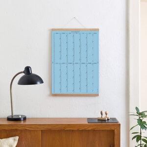 Der A2 Wandkalender 2019 (blau) mit Posterleiste - Kleinwaren / von Laufenberg