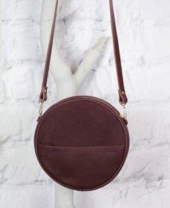 "Runde Eco Leder Tasche ""Alma"" // Marsala - pikfine"