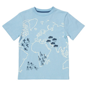 Kinder T-Shirt Kontinente - Kite Clothing