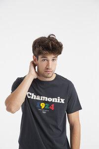 Chamonix T-Shirt  - Lässiges Printshirt für Herren - thinking mu