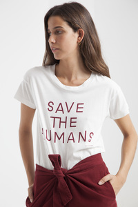 T-Shirt - Save The Humans T-Shirt - thinking mu