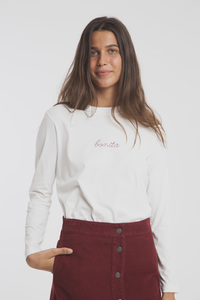 Langarmshirt - Bonita Embroidery T-Shirt - thinking mu