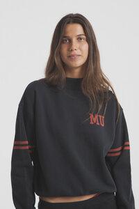 Stylisches graues Sweatshirt - MU Lines Neckshirt - thinking mu