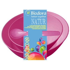 Kindergeschirr 3-tlg Biokunststoff - Biodora