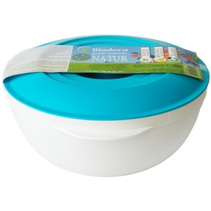 Küchen Schüssel 1 Ltr. Biokunststoff mit Deckel - Biodora