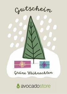 75 € Geschenk-Gutschein - Grüne Weihnacht - Avocado Store