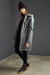 Damen Mantel Coat Ariza - Cool Mud - LangerChen