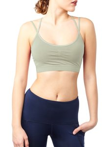 Yoga Top - Slim Studio Bra - Green Greige - Mandala