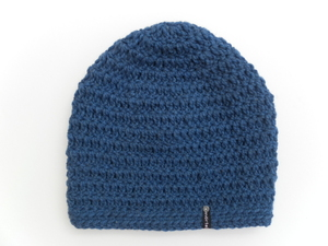 Häkelbeanie Denim - mörtel.mütze