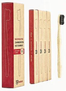 Nachhaltige Bambus Zahnbürsten im 4er Sparset - 99PANDAS