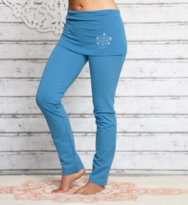 Yogahose mit breitem Rockbund aloha-blau - The Spirit of OM