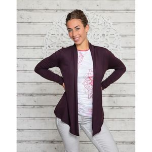 Jersey Cardigan Chakra Aubergine - The Spirit of OM