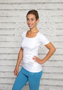Yoga-Shirt Blume des Lebens Weiß - The Spirit of OM