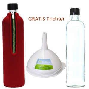 Dora´s Trinkflasche mit Neoprenanzug in rot im Set - Dora