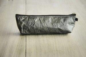 Federmappe Etui aus recycelten Blättern (schwarz), laminiert - Vegan - BY COPALA