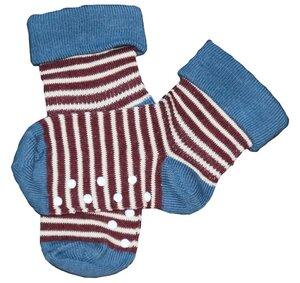 2 er Pack Stopper Socken 6 Farben Bio-Baumwolle Antirutsch Ringel  - Albero