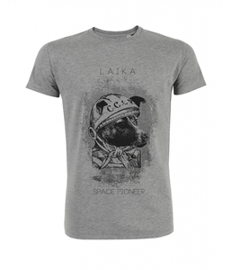 Laika Shirt Herren 'heather grey' - DENK.MAL Clothing