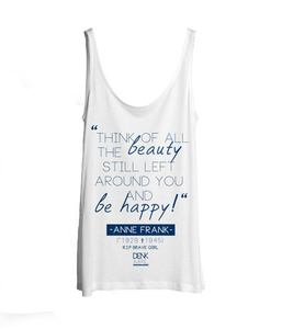 Anne Frank Tank-Top 'white' - DENK.MAL Clothing