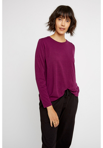 Langarmshirt Wolle/Tencel - Amara Top - Purple - People Tree